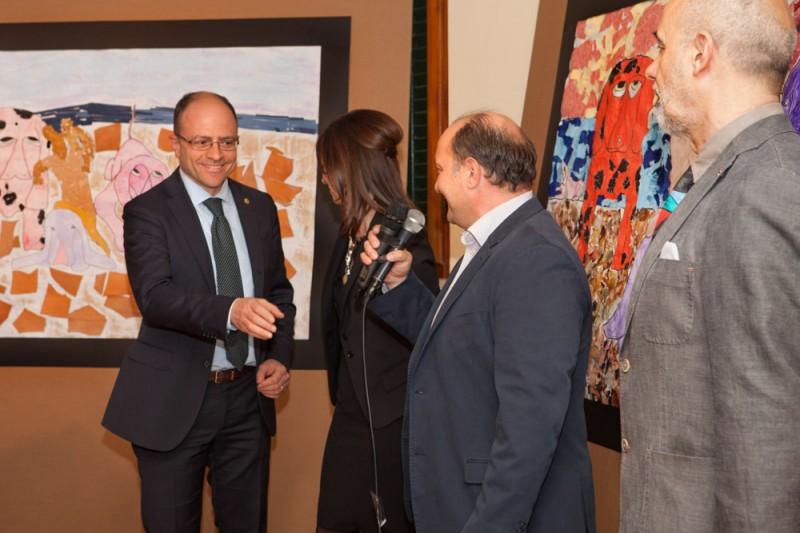 Da sinistra - Simone Giugni, Paola Nacci, Francesco Lapi e Alberto Silva