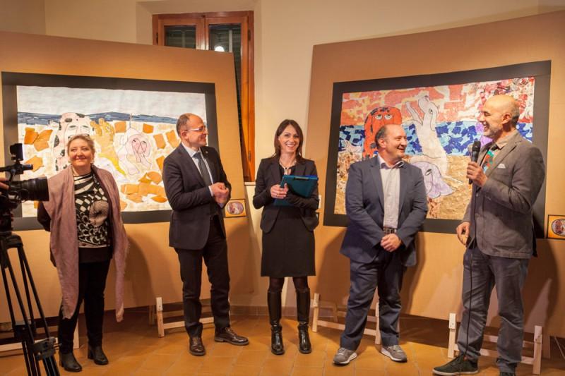 Da sinistra - Lia Nasello, Simone Giugni, Paola Nacci, Francesco Lapi e Alberto Silva