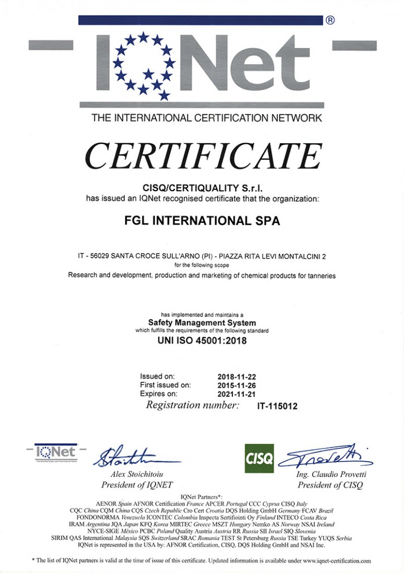 UNI EN ISO 45001:2018