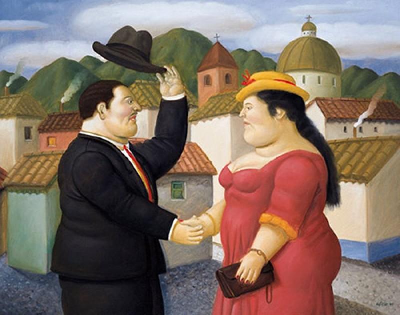 Fernando Botero - Uomo e donna - opera originale