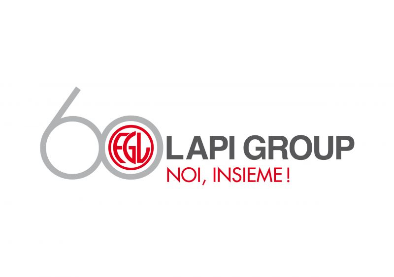 Il logo commemorativo dei sessant\'anni del Gruppo Lapi